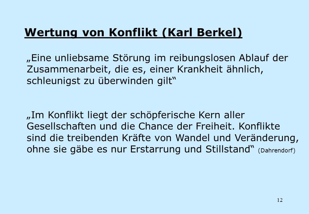 Wertung von Konflikt (Karl Berkel)