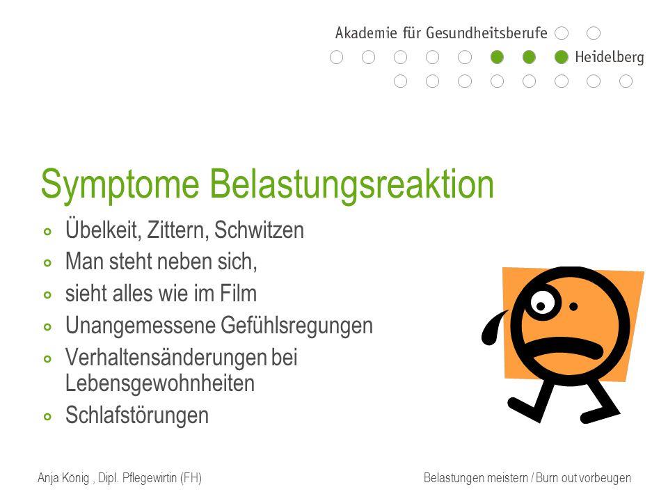 Symptome Belastungsreaktion