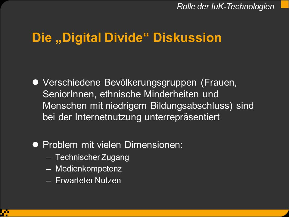 "Die ""Digital Divide Diskussion"