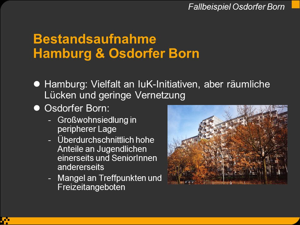 Bestandsaufnahme Hamburg & Osdorfer Born