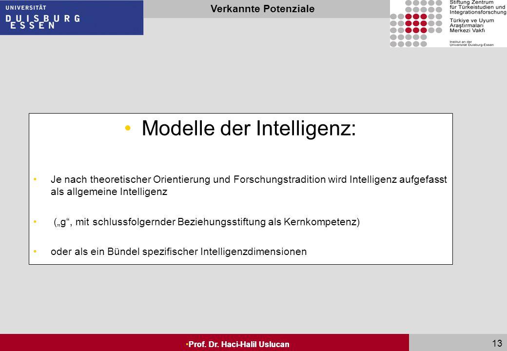 Modelle der Intelligenz: