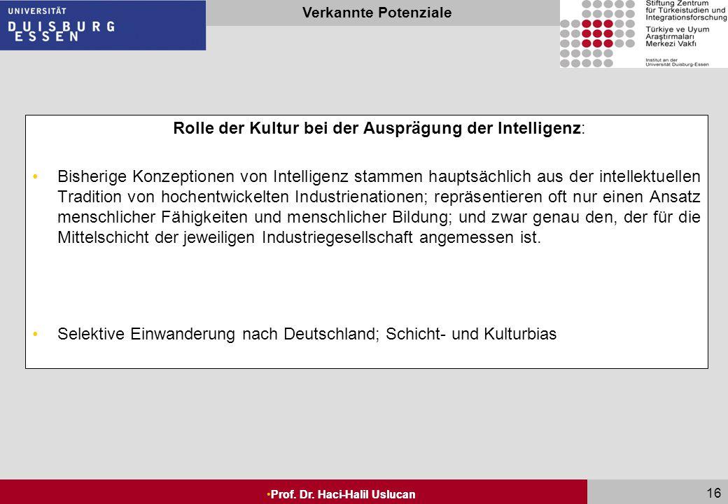 Intelligenz und Schule: