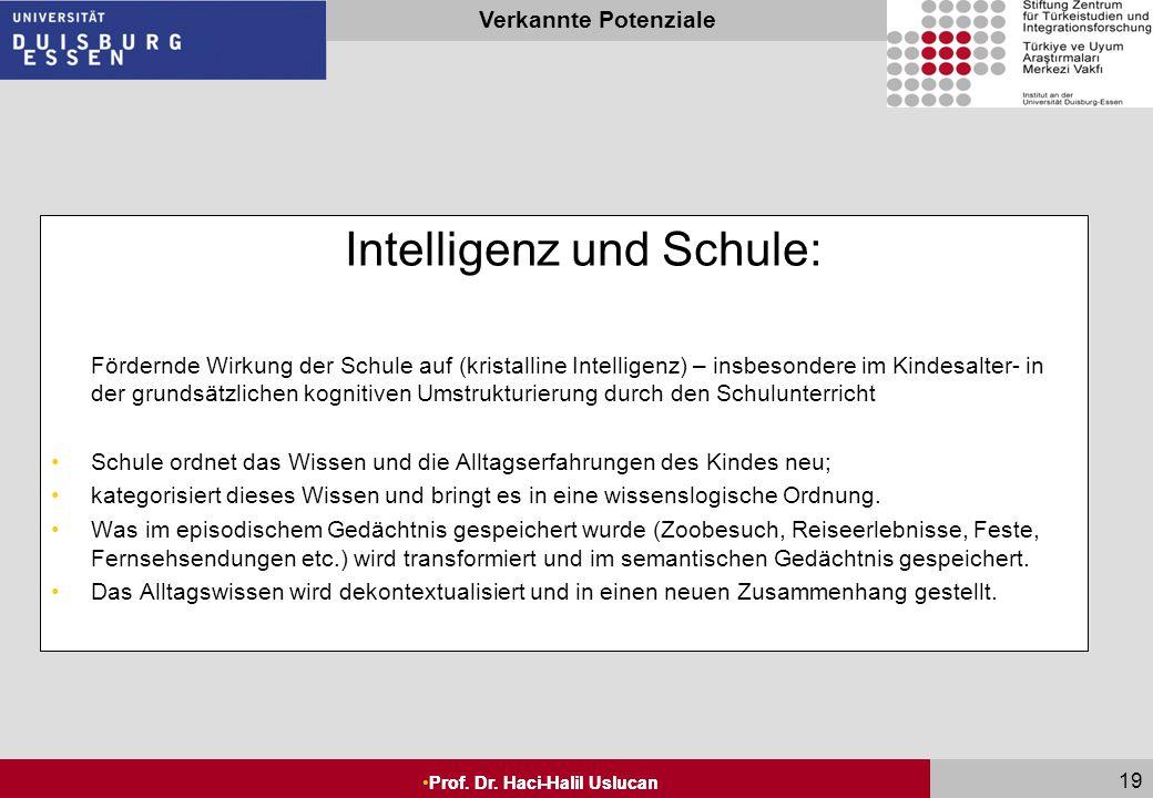 Wie hängt Intelligenz mit der Schulleistung zusammen