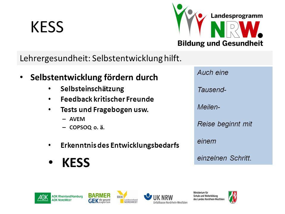 KESS KESS Lehrergesundheit: Selbstentwicklung hilft.