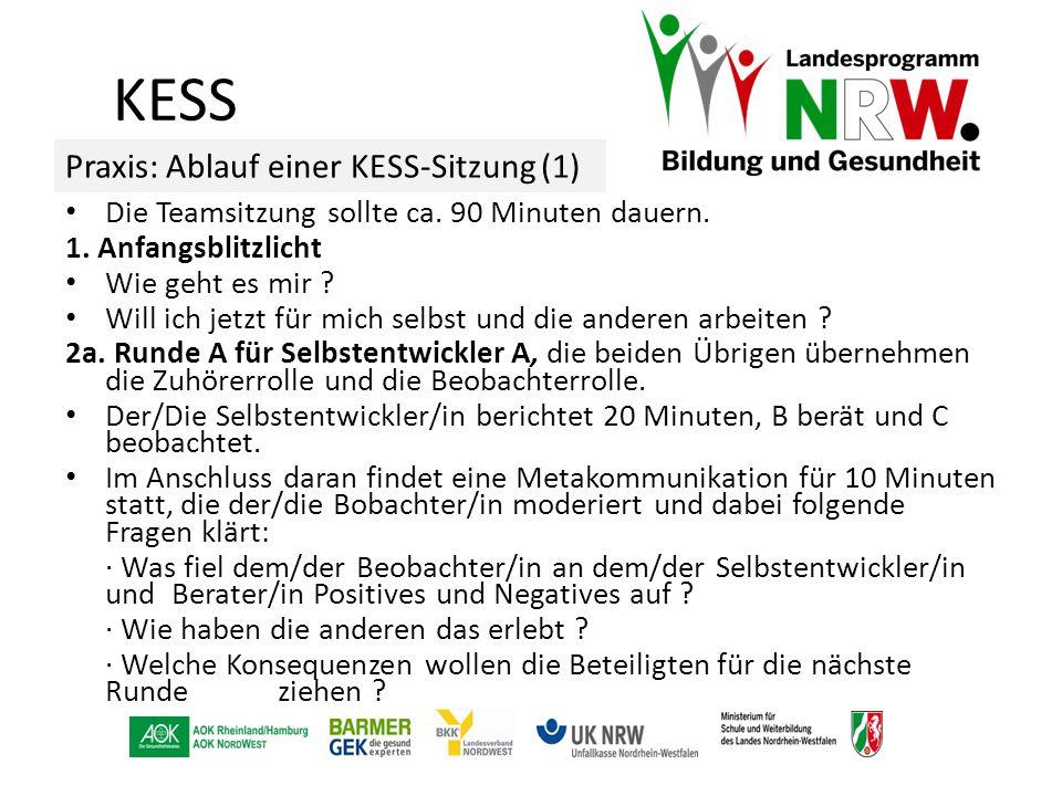 KESS Praxis: Ablauf einer KESS-Sitzung (1)
