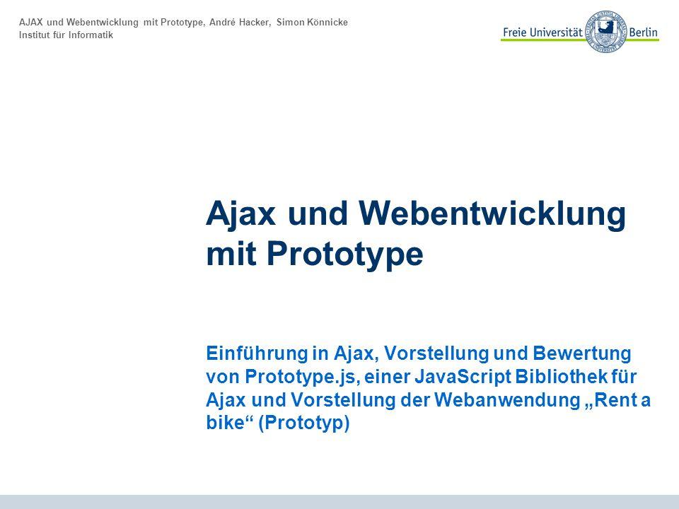 Ajax und Webentwicklung mit Prototype
