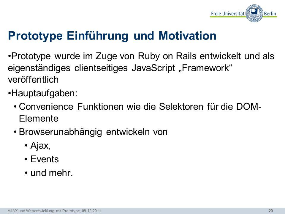 Prototype Einführung und Motivation