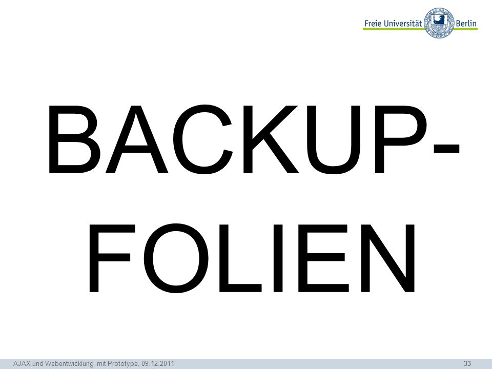 BACKUP- FOLIEN Simons Idee: