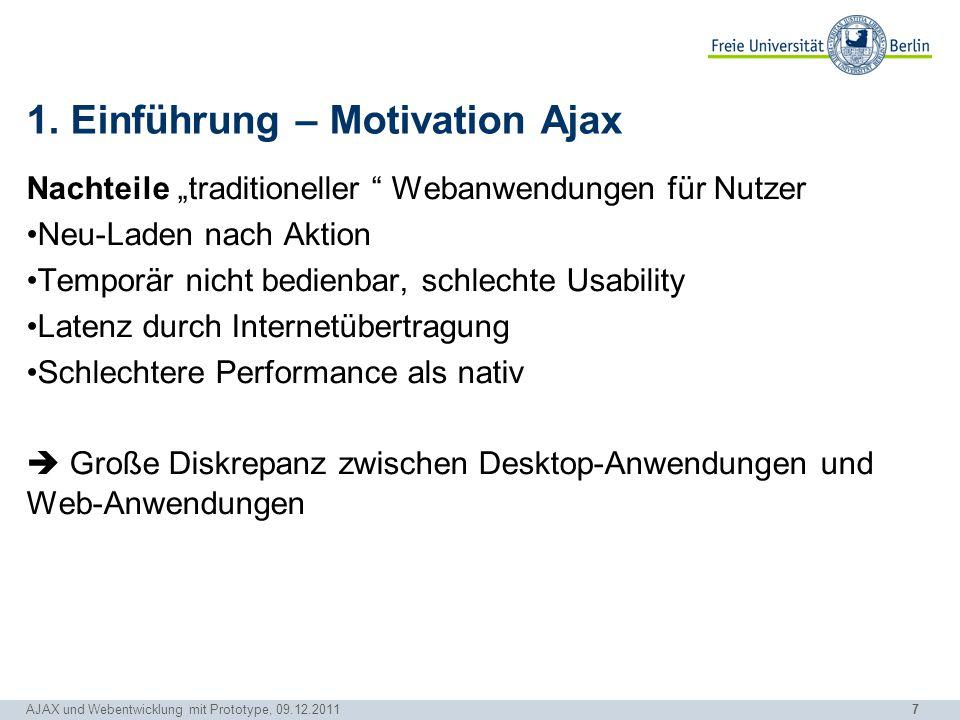 1. Einführung – Motivation Ajax