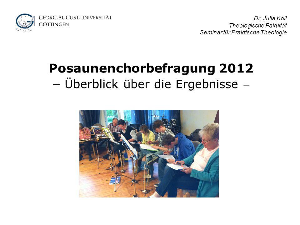 Posaunenchorbefragung 2012  Überblick über die Ergebnisse 