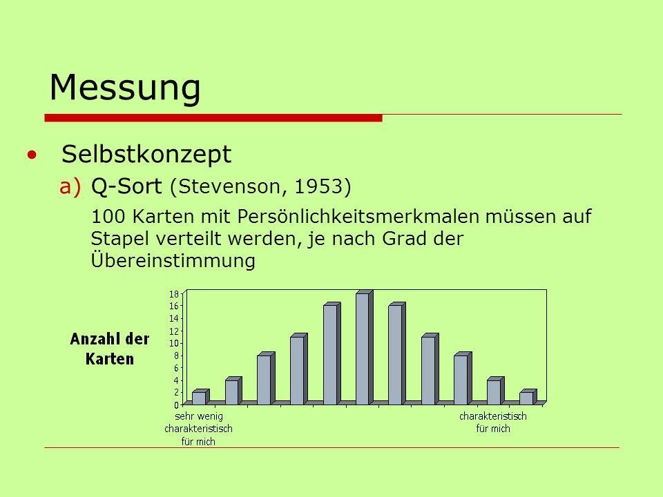 Messung Selbstkonzept Q-Sort (Stevenson, 1953)