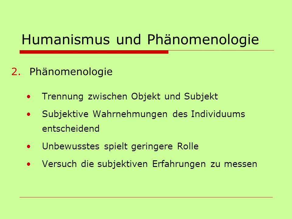 Humanismus und Phänomenologie