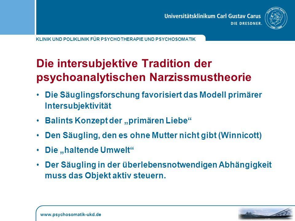 Die intersubjektive Tradition der psychoanalytischen Narzissmustheorie