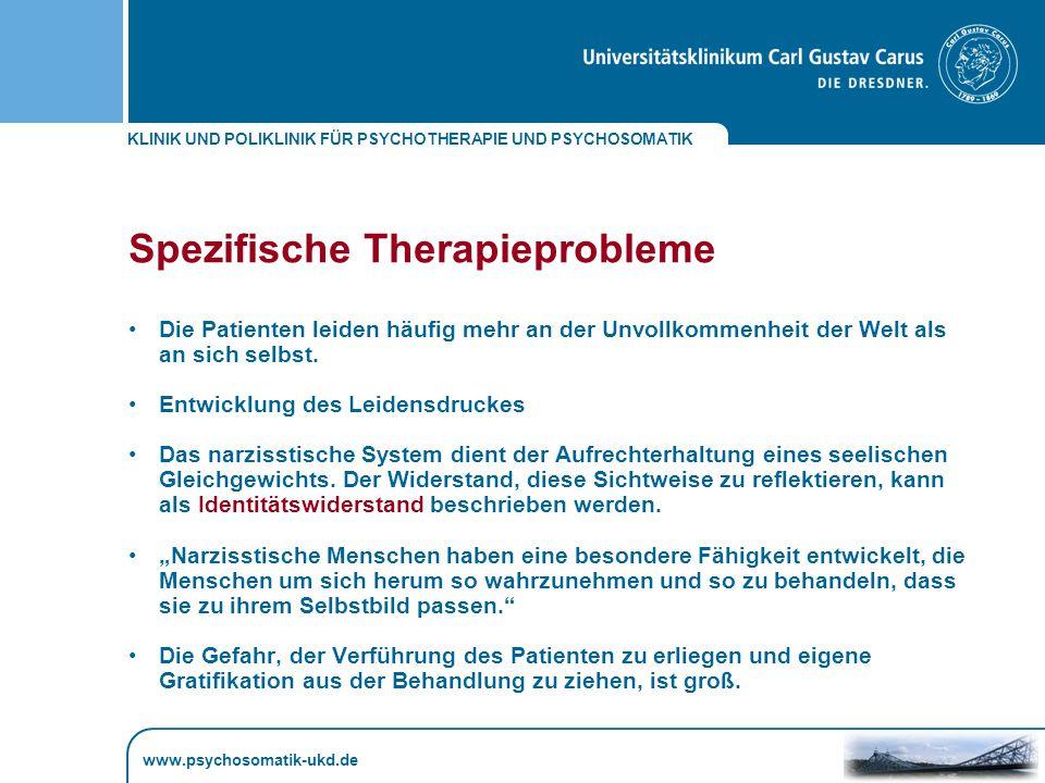 Spezifische Therapieprobleme