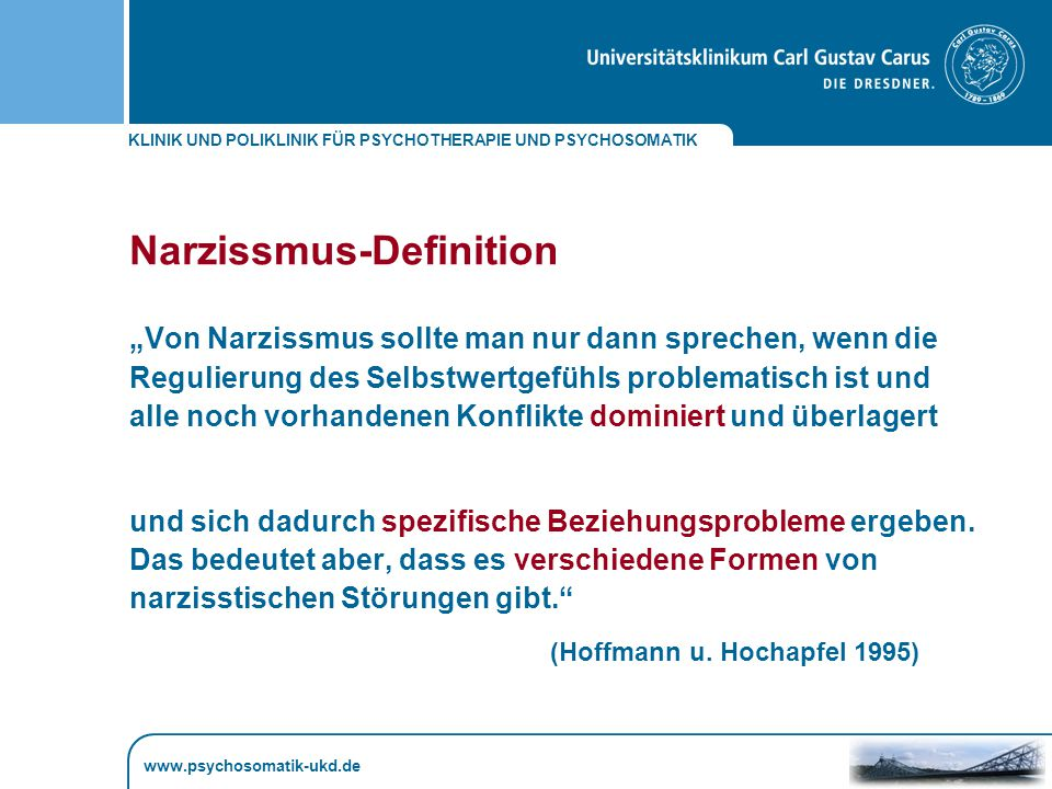 Narzissmus-Definition
