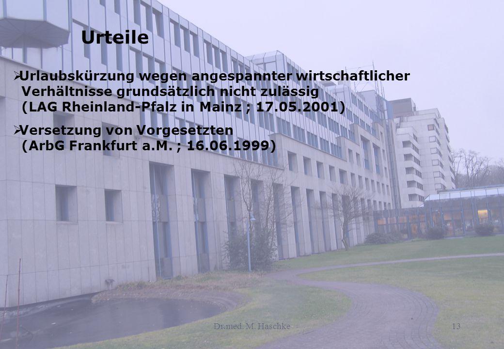 Urteile Urlaubskürzung wegen angespannter wirtschaftlicher Verhältnisse grundsätzlich nicht zulässig (LAG Rheinland-Pfalz in Mainz ; 17.05.2001)