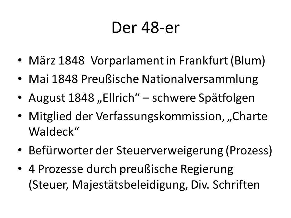 Der 48-er März 1848 Vorparlament in Frankfurt (Blum)