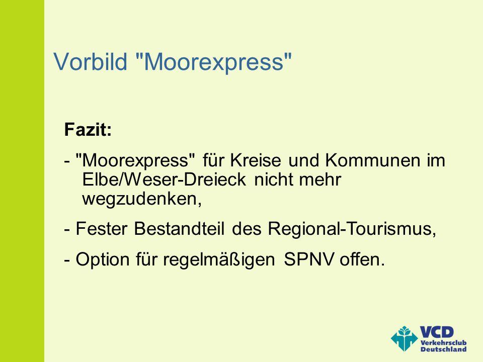Vorbild Moorexpress Fazit:
