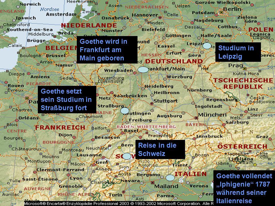Goethe wird in Frankfurt am Main geboren