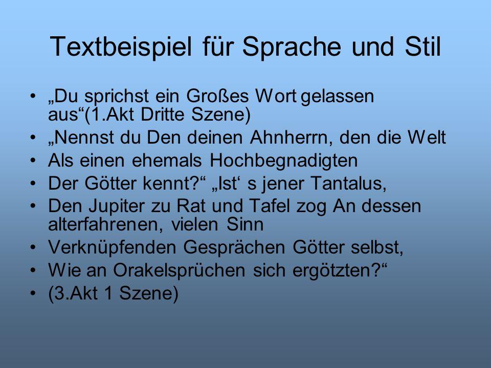 Textbeispiel für Sprache und Stil