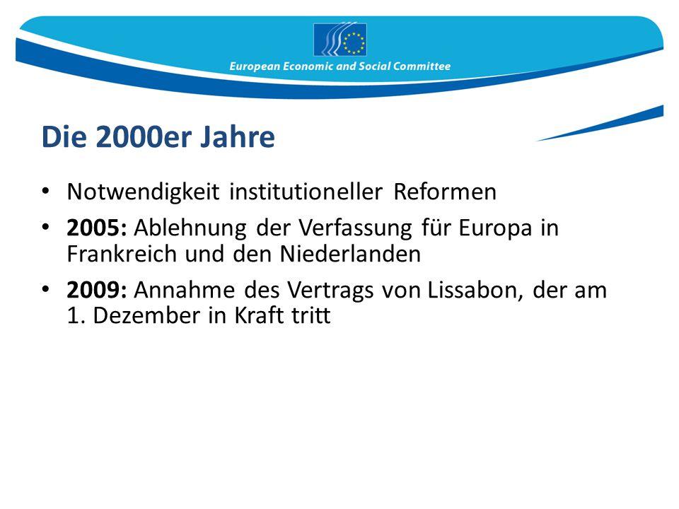 Die 2000er Jahre Notwendigkeit institutioneller Reformen