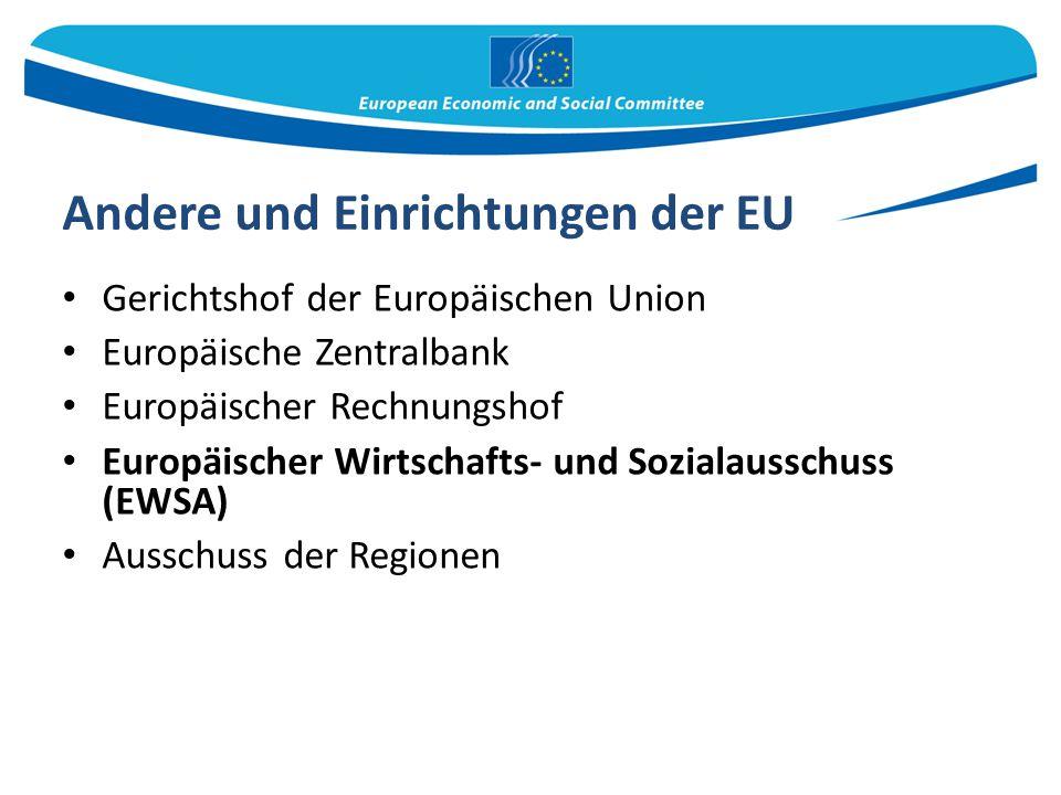 Andere und Einrichtungen der EU
