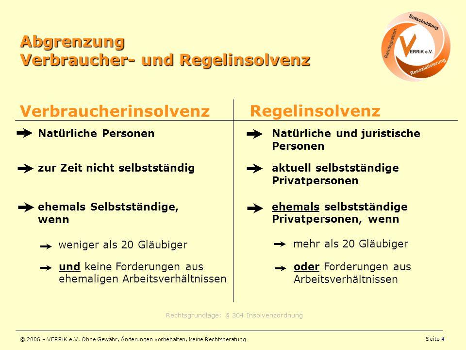 Rechtsgrundlage: § 304 Insolvenzordnung