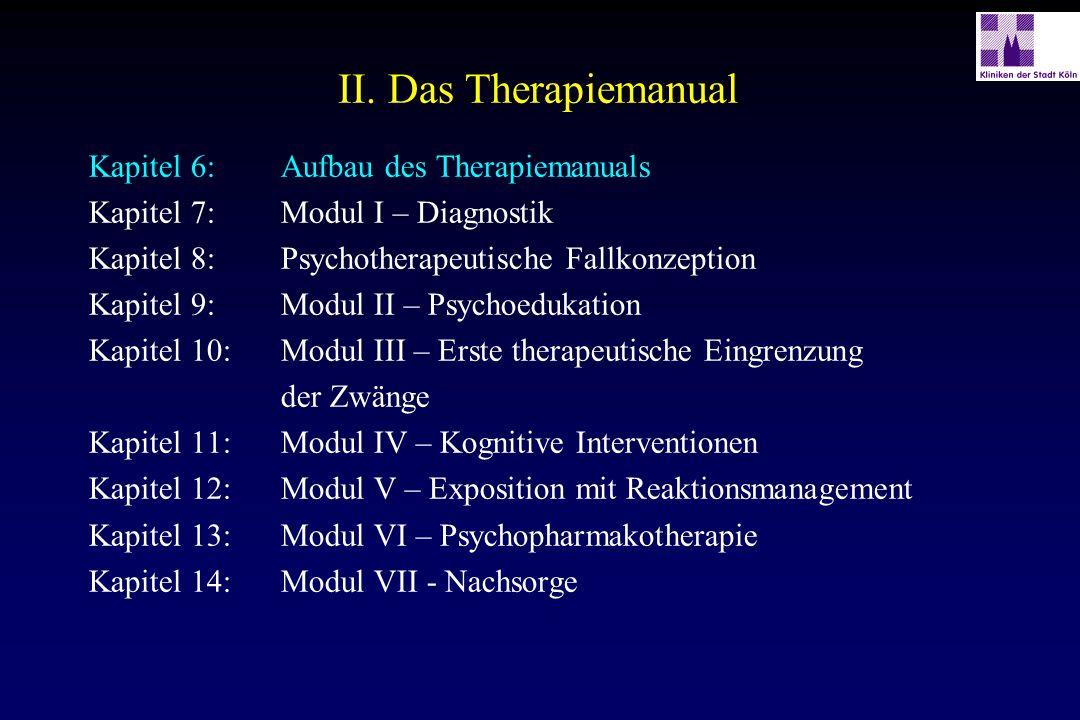 II. Das Therapiemanual Kapitel 6: Aufbau des Therapiemanuals