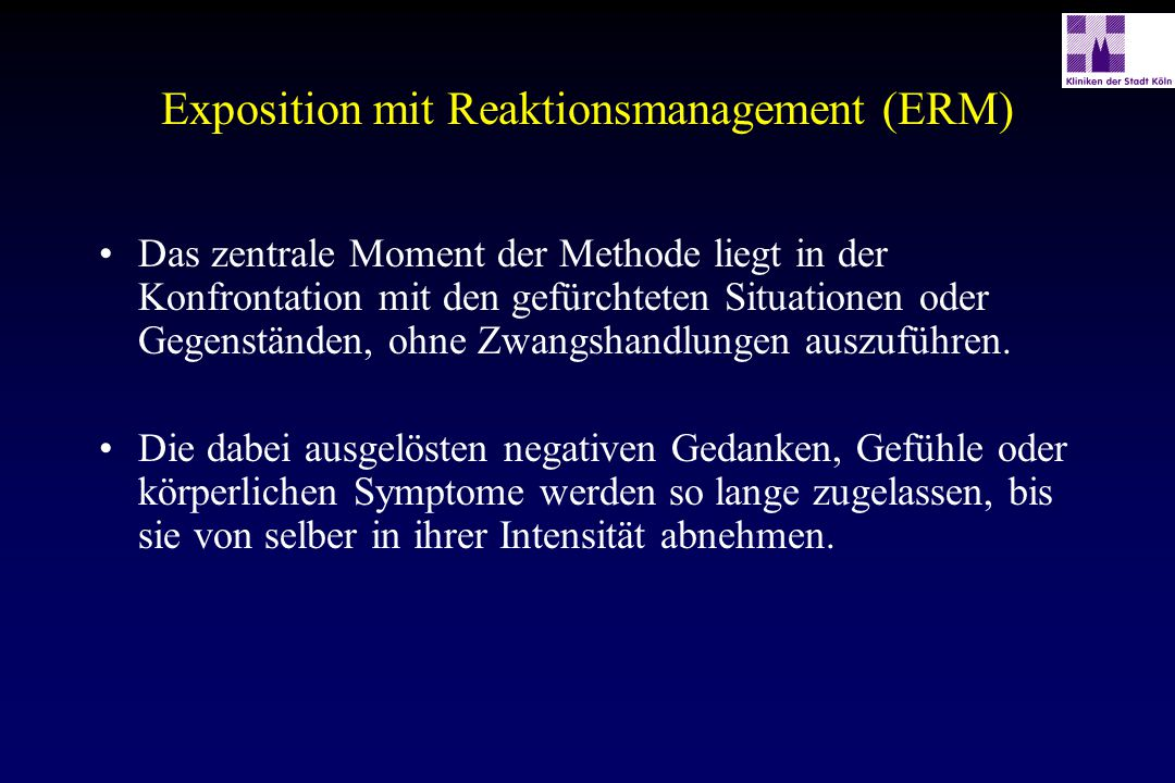 Exposition mit Reaktionsmanagement (ERM)