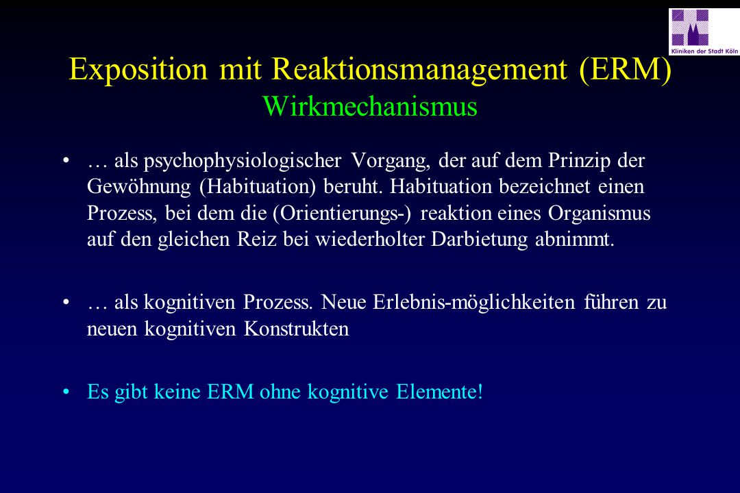 Exposition mit Reaktionsmanagement (ERM) Wirkmechanismus