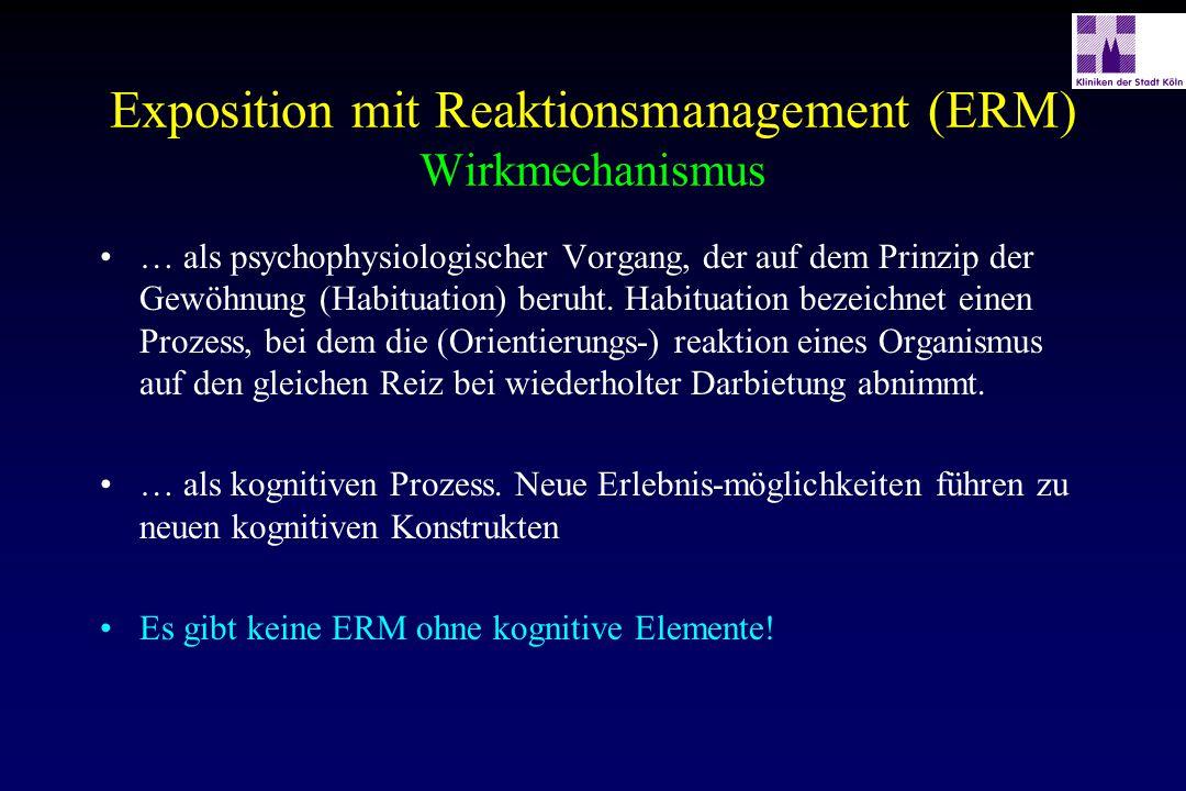 Exposition mit Reaktionsmanagement (ERM) Wirkmechanismus