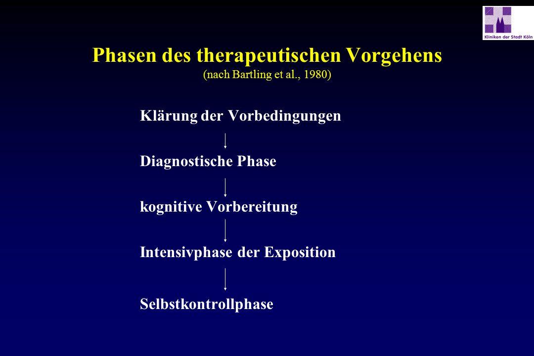 Phasen des therapeutischen Vorgehens (nach Bartling et al., 1980)