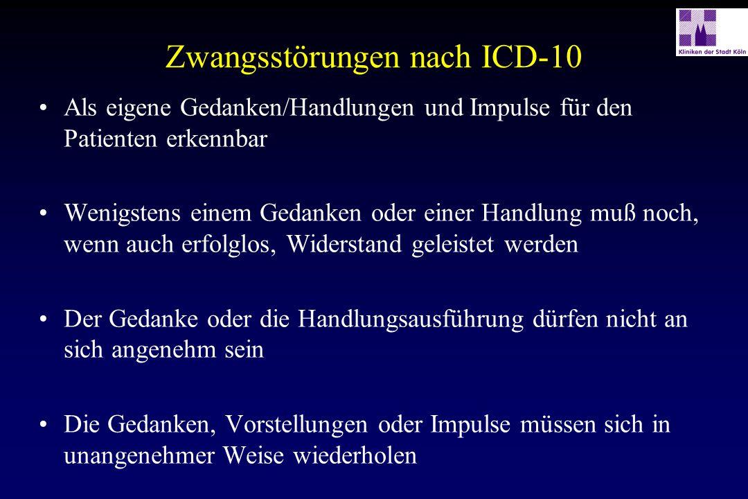 Zwangsstörungen nach ICD-10