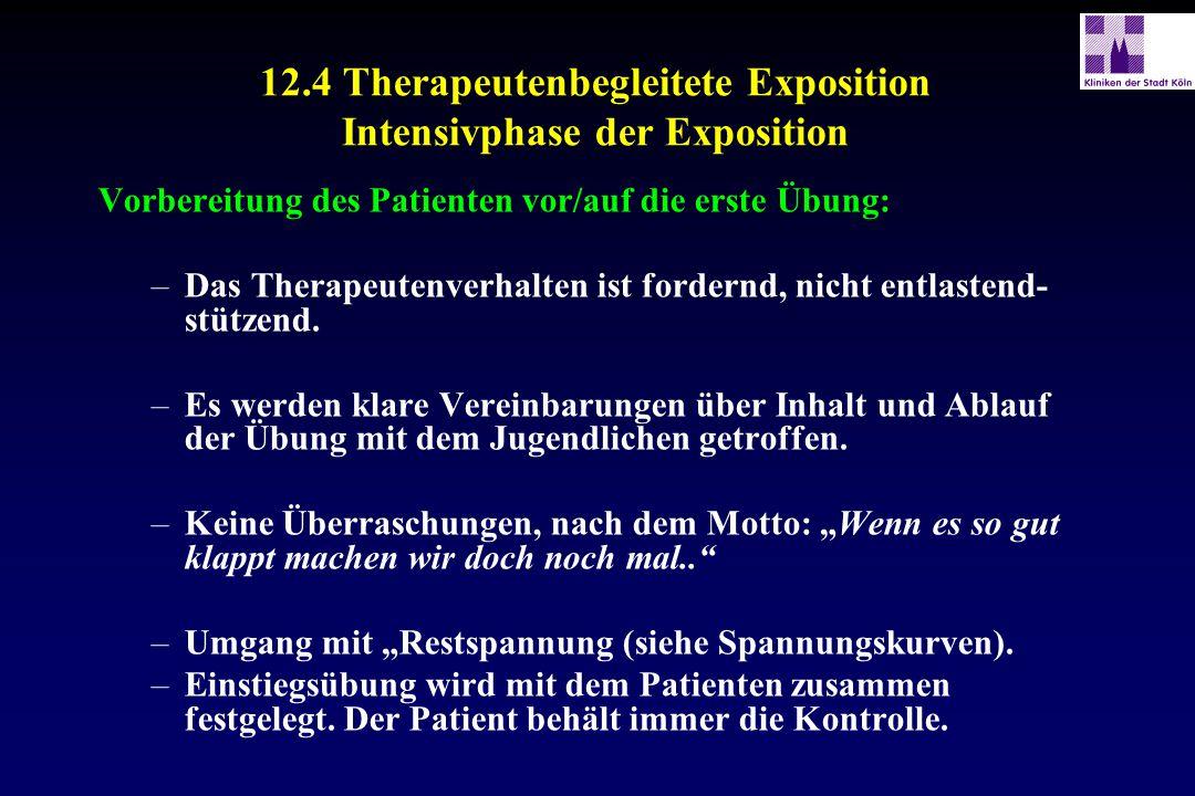 12.4 Therapeutenbegleitete Exposition Intensivphase der Exposition