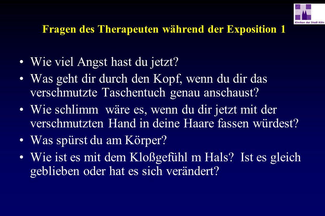 Fragen des Therapeuten während der Exposition 1
