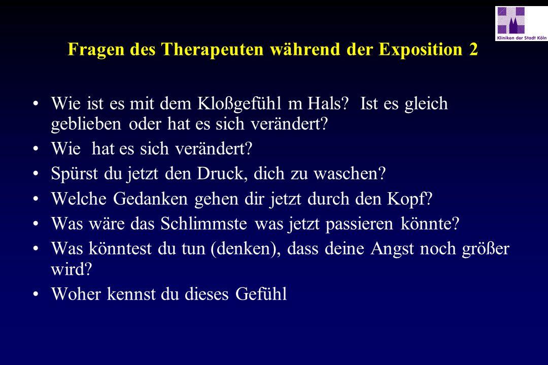 Fragen des Therapeuten während der Exposition 2