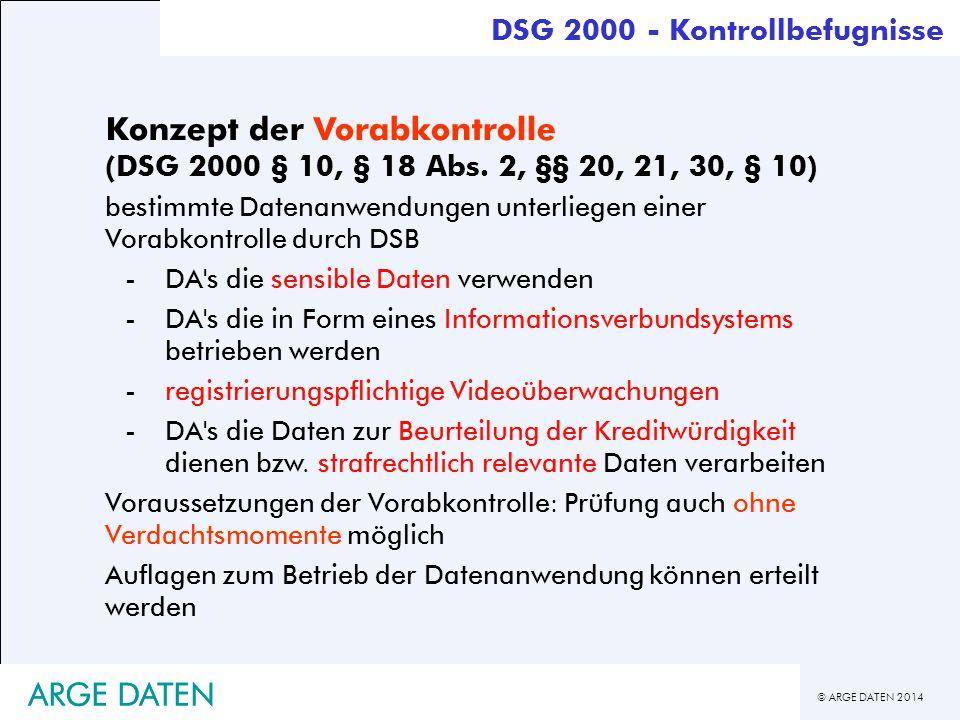 DSG 2000 - Kontrollbefugnisse