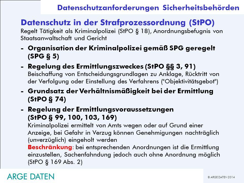 Datenschutz in der Strafprozessordnung (StPO)