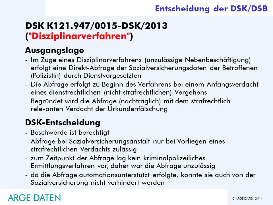 DSK K121.947/0015-DSK/2013 ( Disziplinarverfahren )