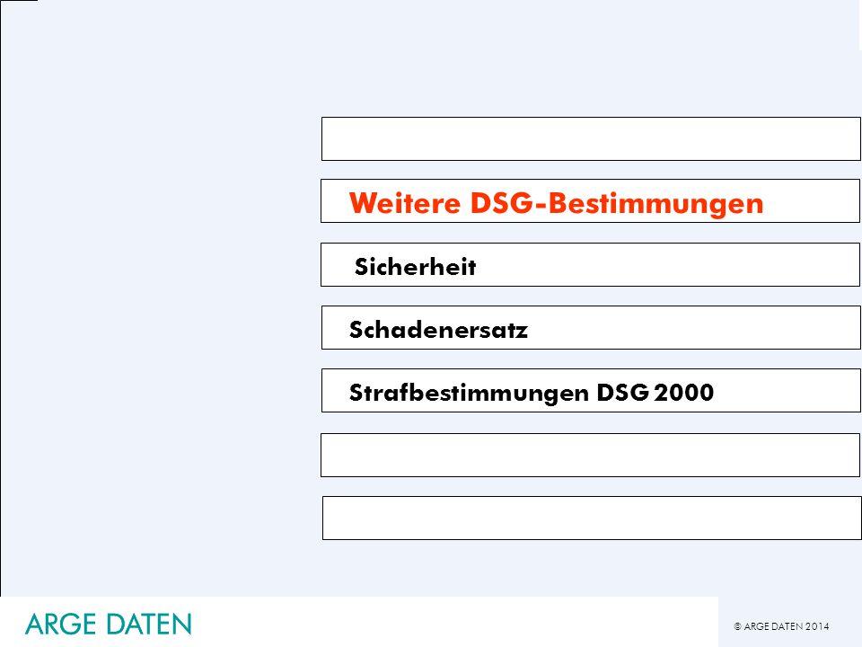 Weitere DSG-Bestimmungen