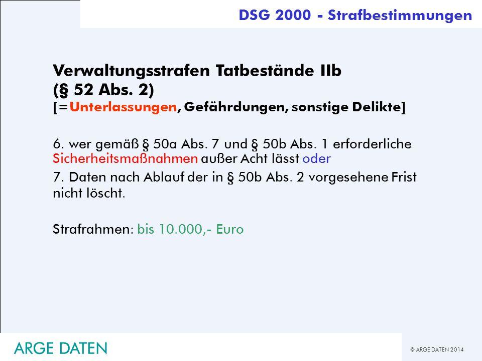 DSG 2000 - Strafbestimmungen