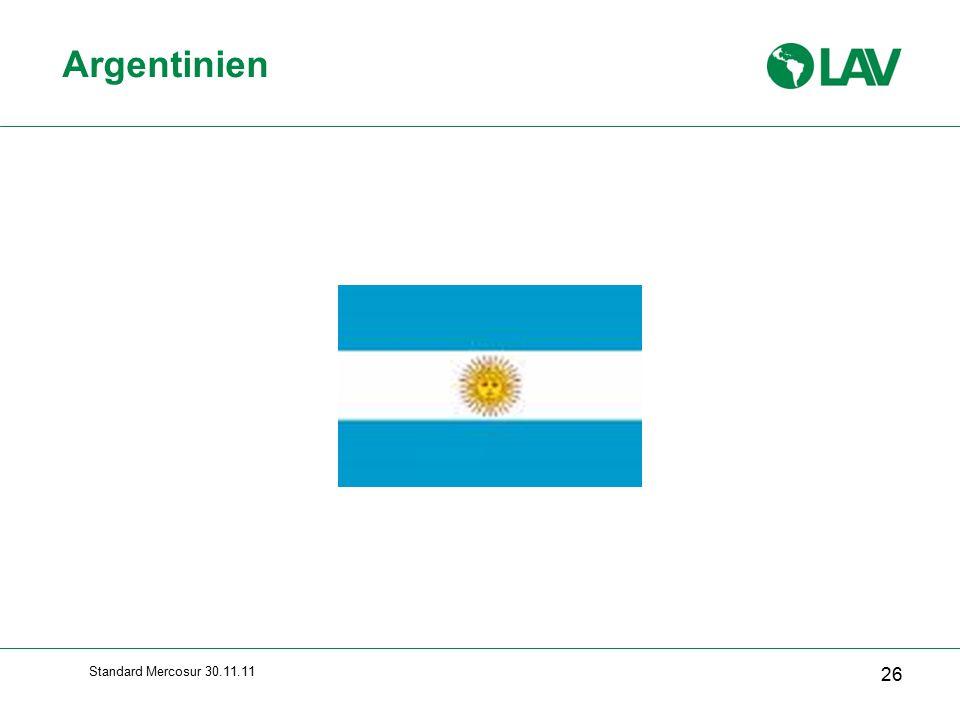 Argentinien Standard Mercosur 30.11.11