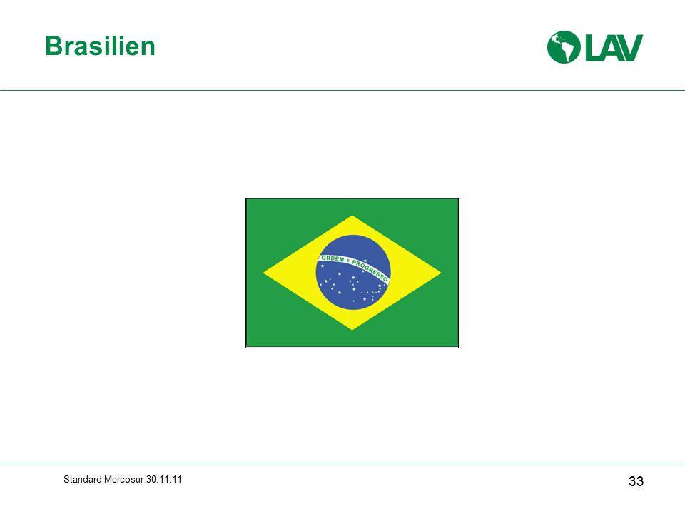 Brasilien Standard Mercosur 30.11.11