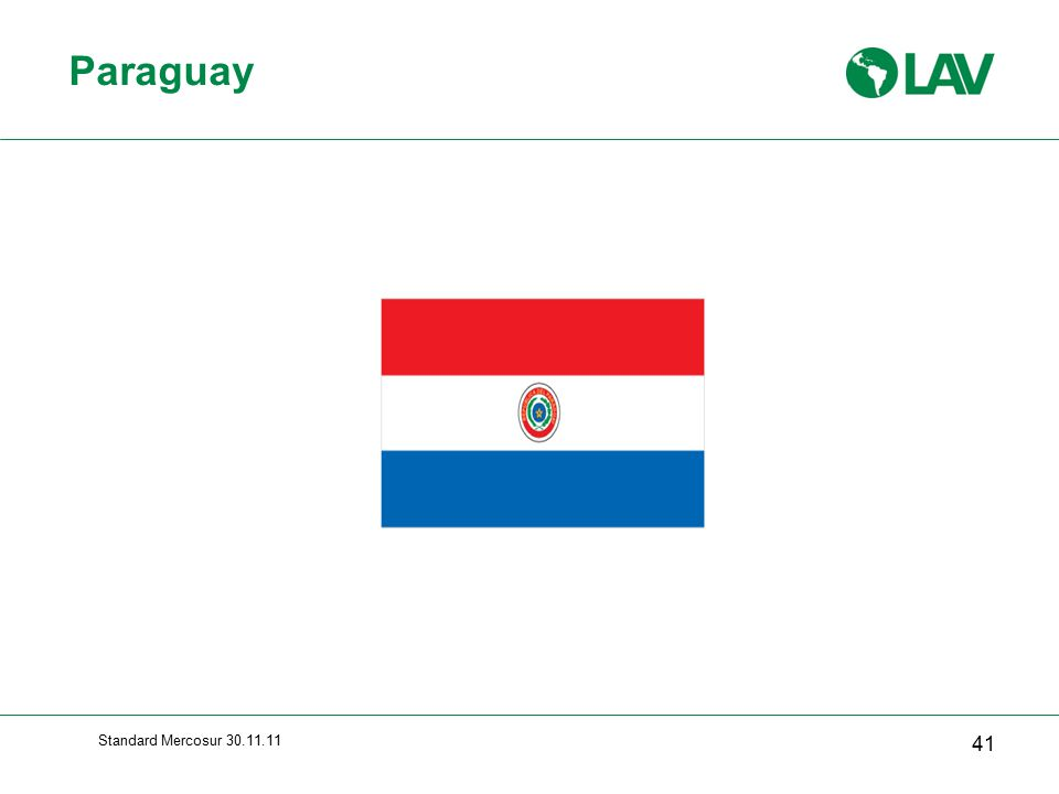 Paraguay Standard Mercosur 30.11.11