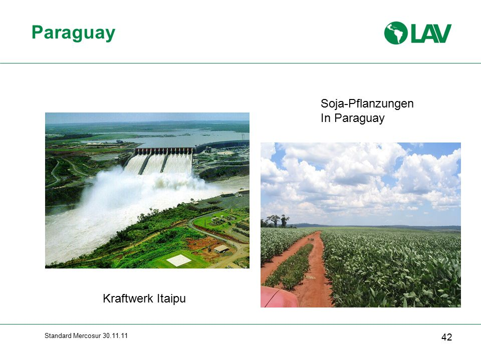 Paraguay Soja-Pflanzungen In Paraguay Kraftwerk Itaipu
