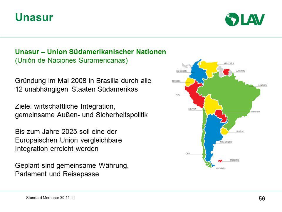 Unasur Unasur – Union Südamerikanischer Nationen