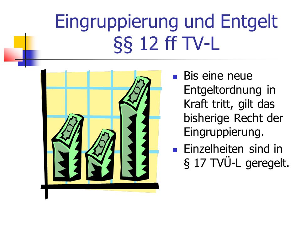 Eingruppierung und Entgelt §§ 12 ff TV-L