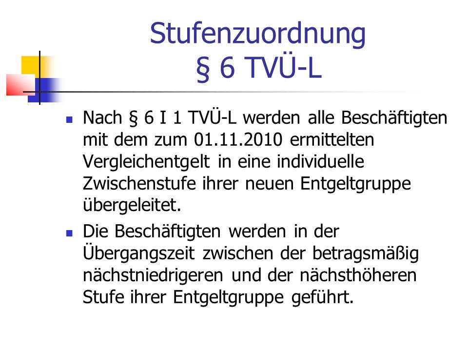 Stufenzuordnung § 6 TVÜ-L