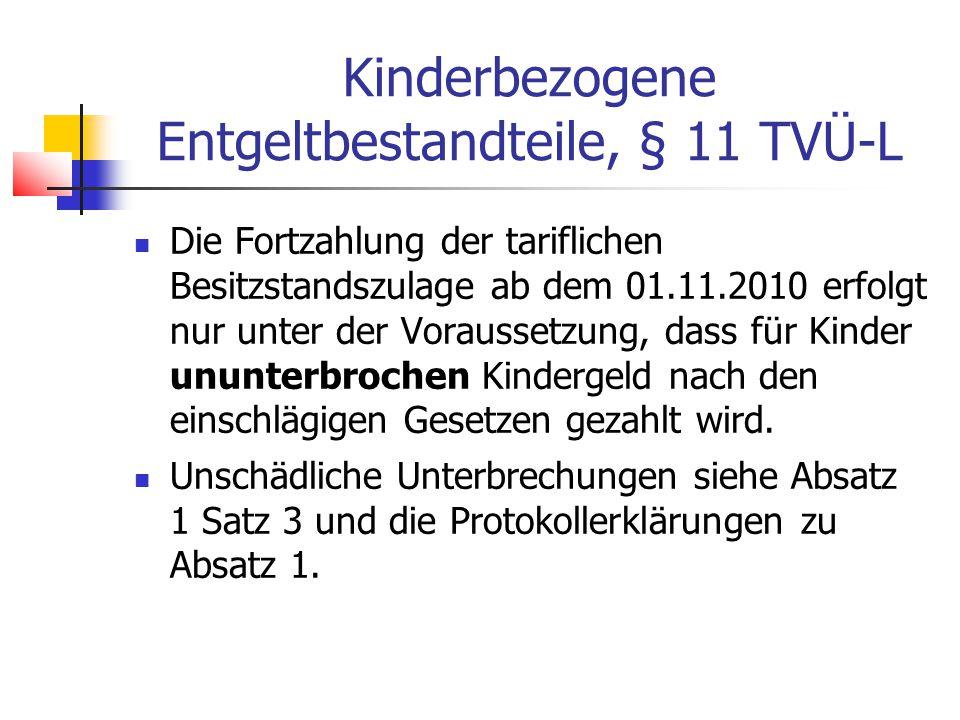 Kinderbezogene Entgeltbestandteile, § 11 TVÜ-L