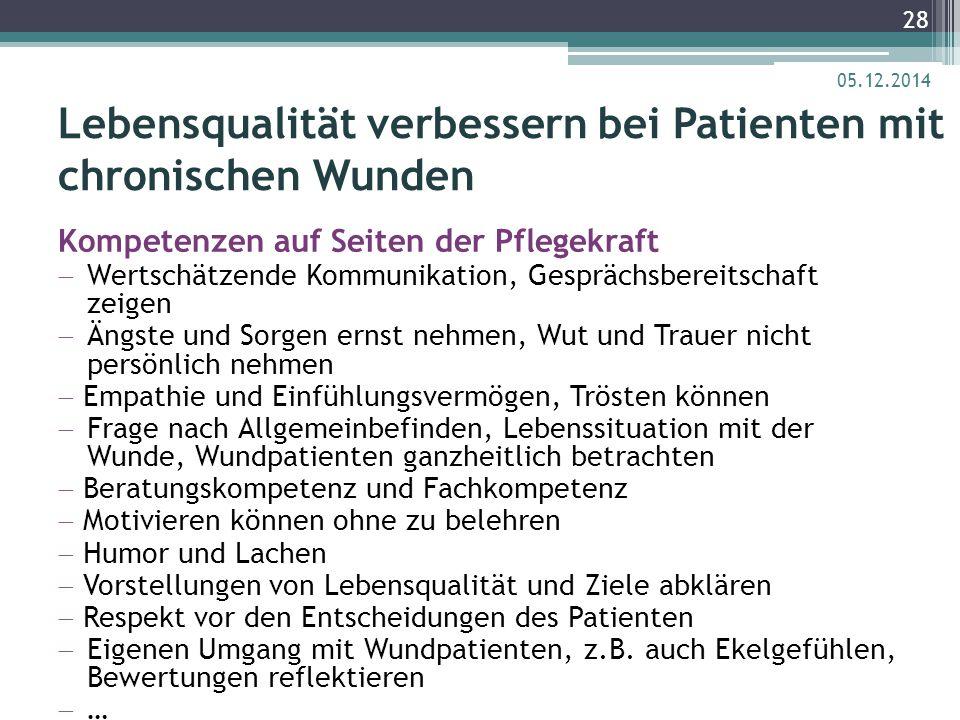 Lebensqualität verbessern bei Patienten mit chronischen Wunden